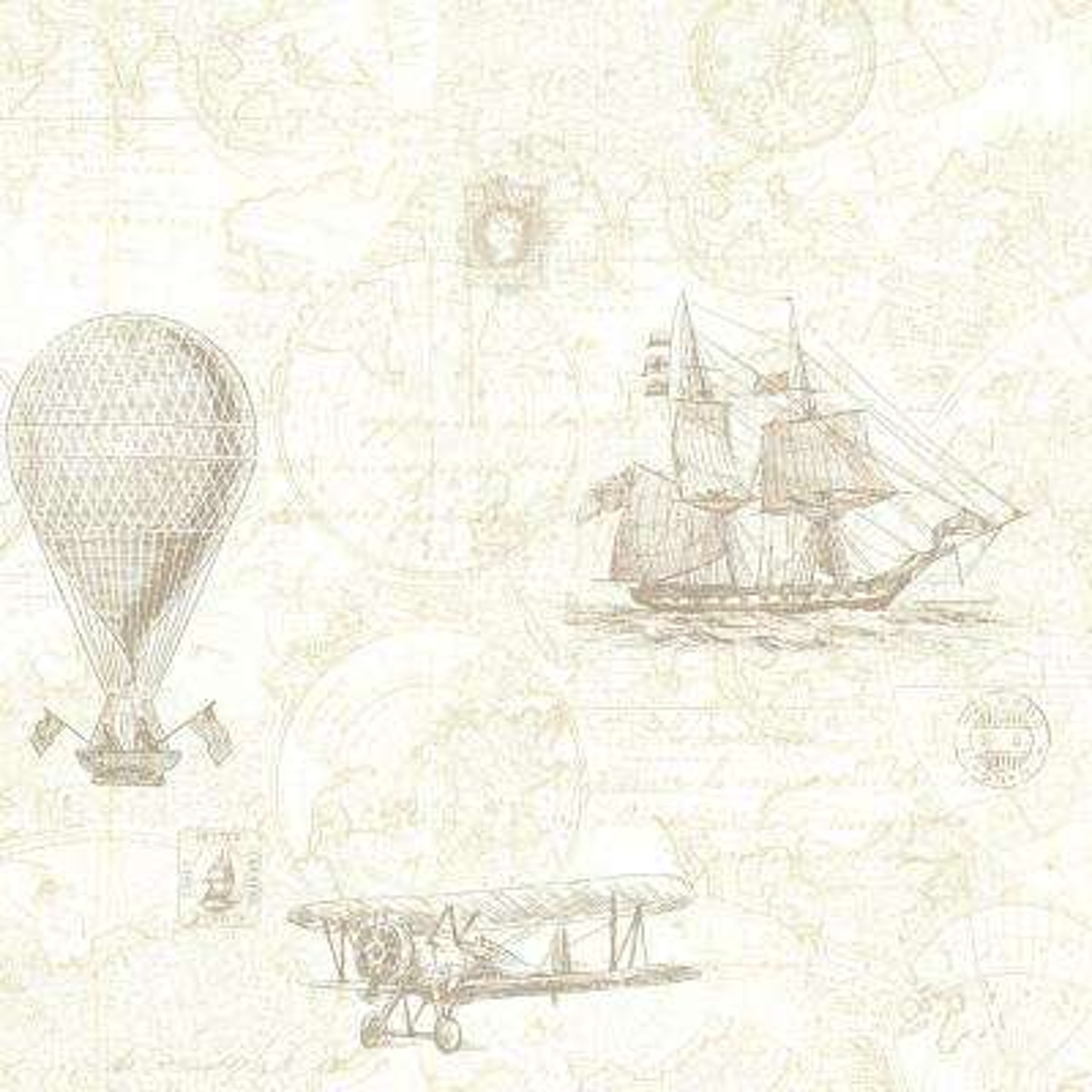 56.4 sq. ft. Explorer Khaki Antique Map Wallpaper