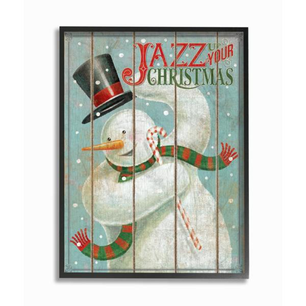Stupell Industries 11 in. x 14 in. ''Holiday Vintage Music Jazz