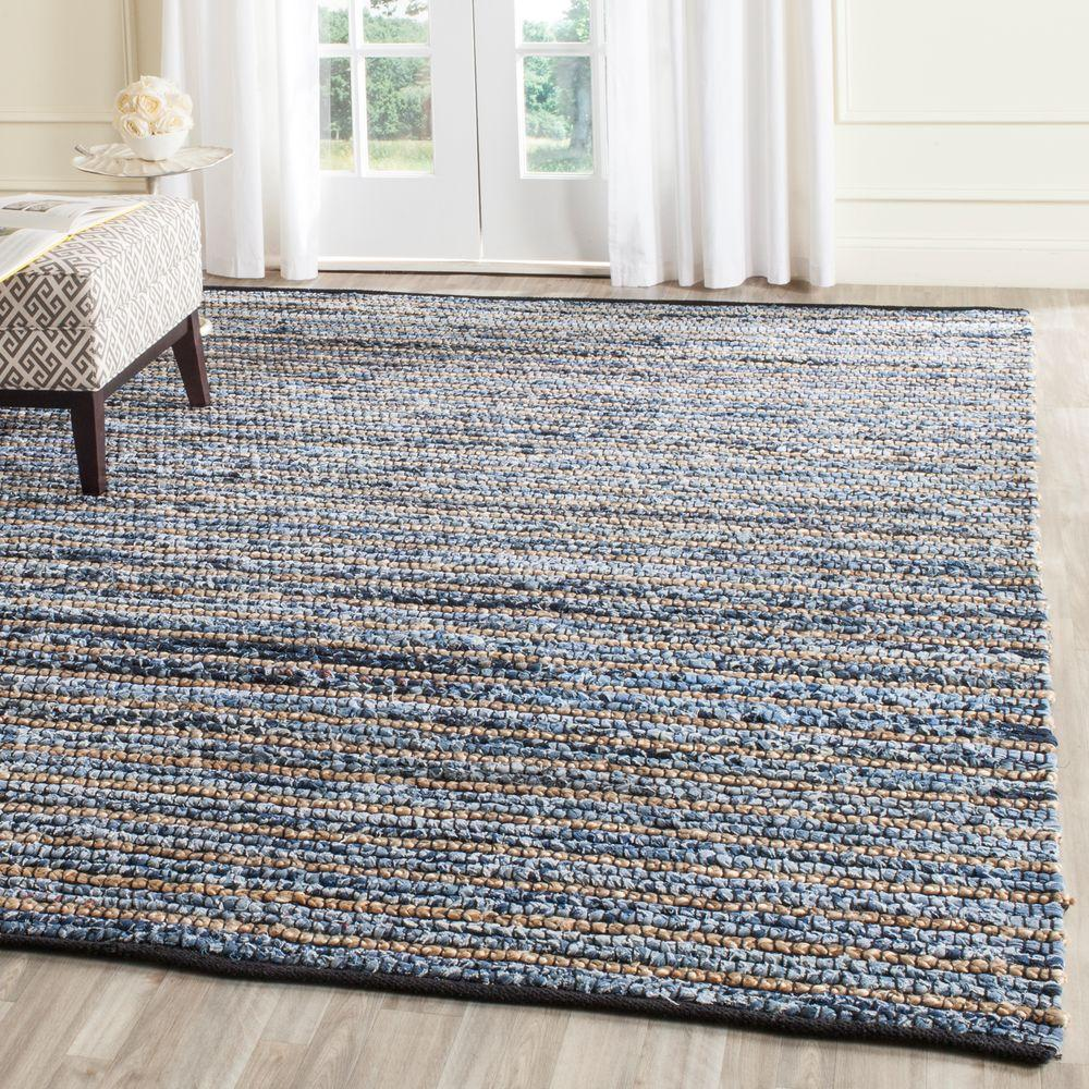 Safavieh Cape Cod Blue Natural 8 Ft X 10 Area Rug Cap363a The Home Depot