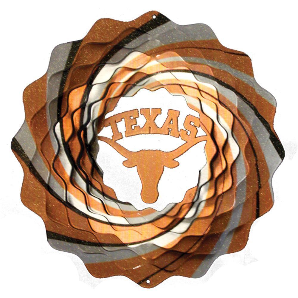 Iron Stop 10 in. University of Texas Collegiate Wind Spinner