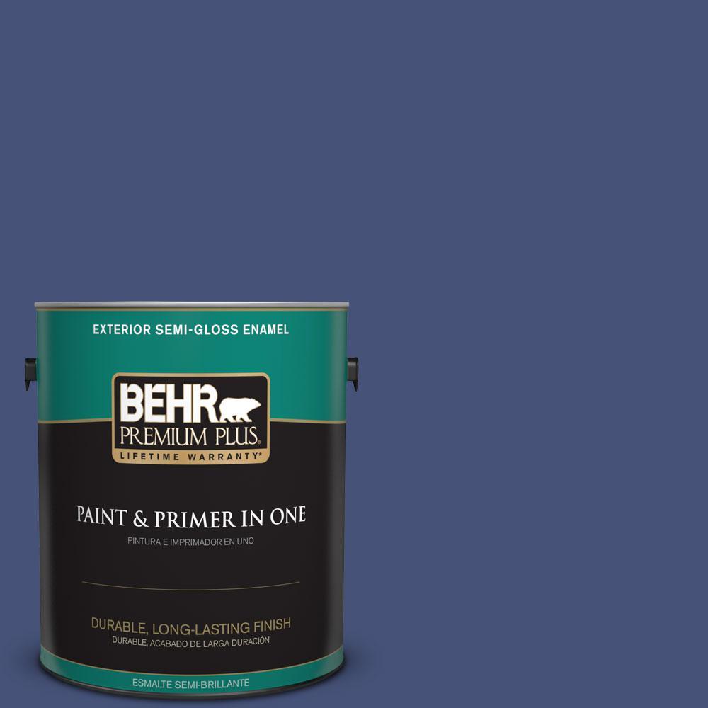 1-gal. #620D-7 Deep Indigo Semi-Gloss Enamel Exterior Paint