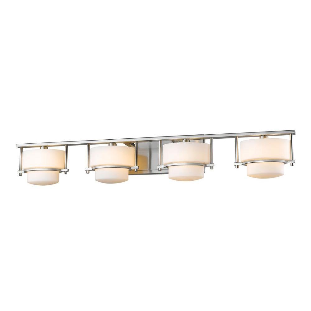 Christen 4-Light Brushed Nickel Bath Vanity Light