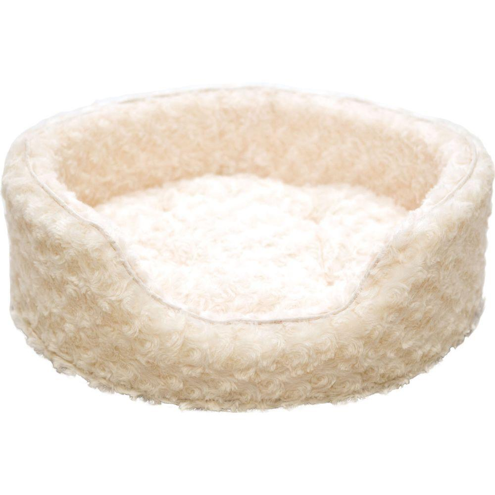 PAW X-Large Cream Snuggle Round Comfy Fur Pet Bed