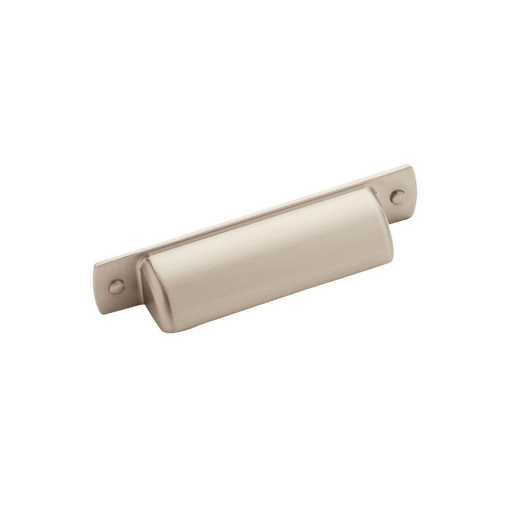 (76 Mm) Satin Nickel Center Cabinet Cup Pull