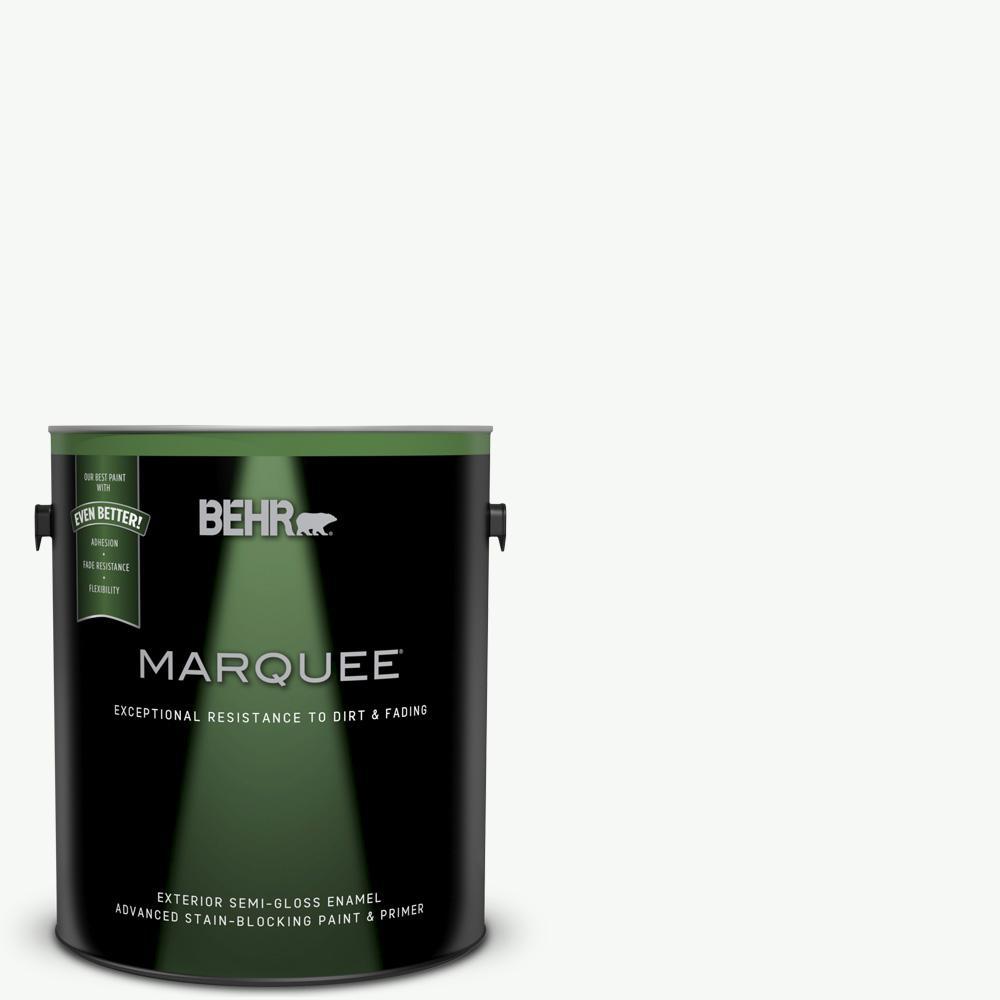 1-gal. #PR-W15 Ultra Pure White Semi-Gloss Enamel Exterior Paint