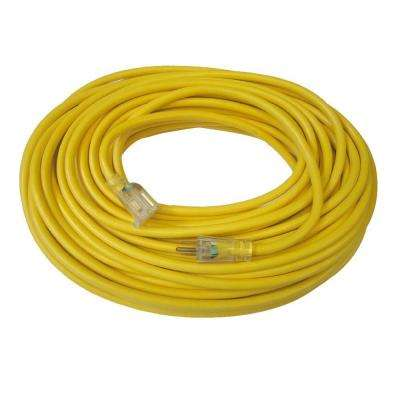 80 ft. 14/3 SJTW Lighted Outdoor Yellow Extension Cord