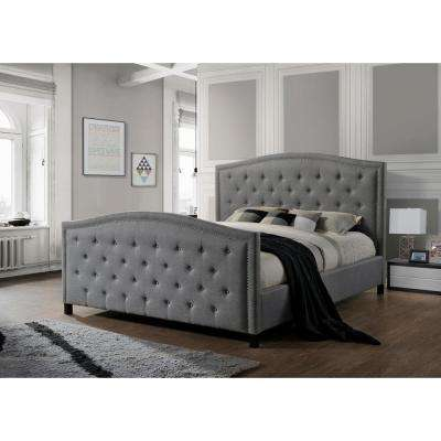 Camden Gray King Upholstered Bed