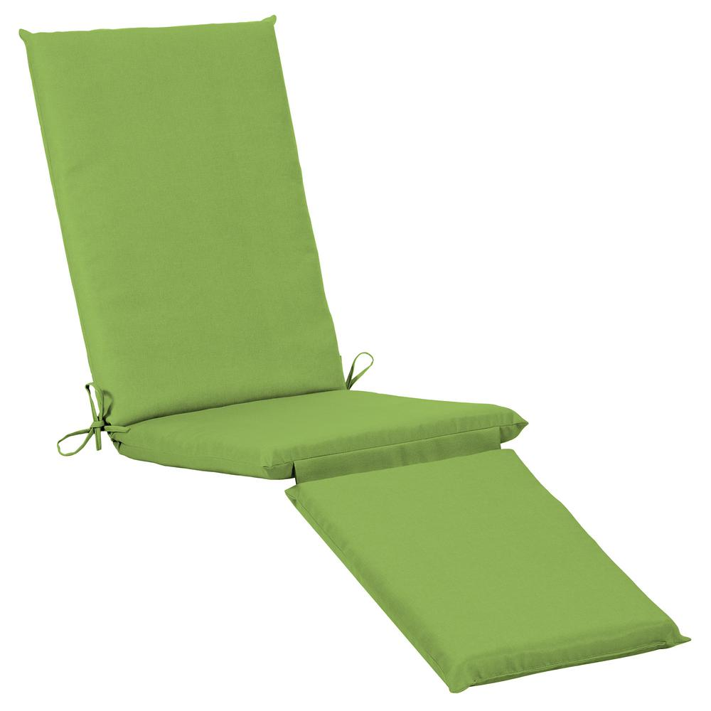 Home Decorators Collection 19 x 74 Sunbrella Canvas Gingko Outdoor Chaise Lounge Cushion