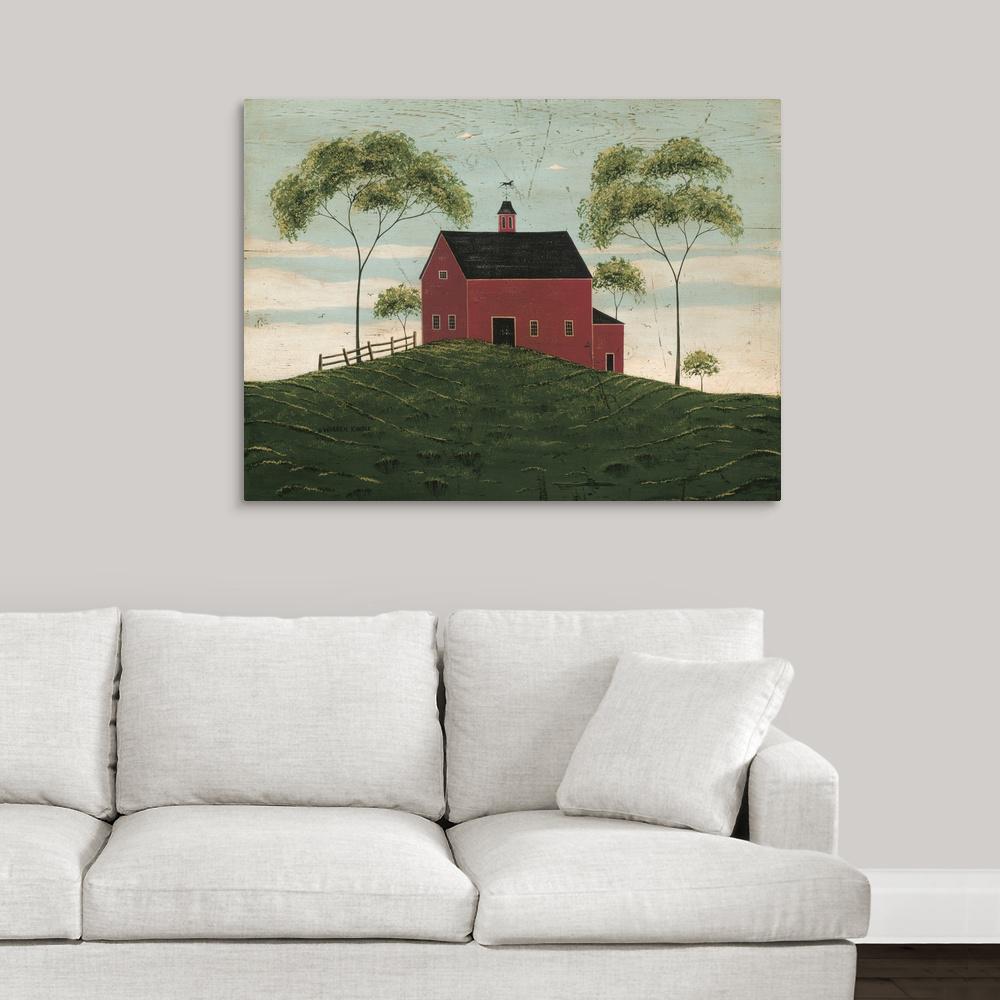 """40 in. x 30 in. """"Brandon Barn"""" by Warren Kimble Canvas Wall Art"""