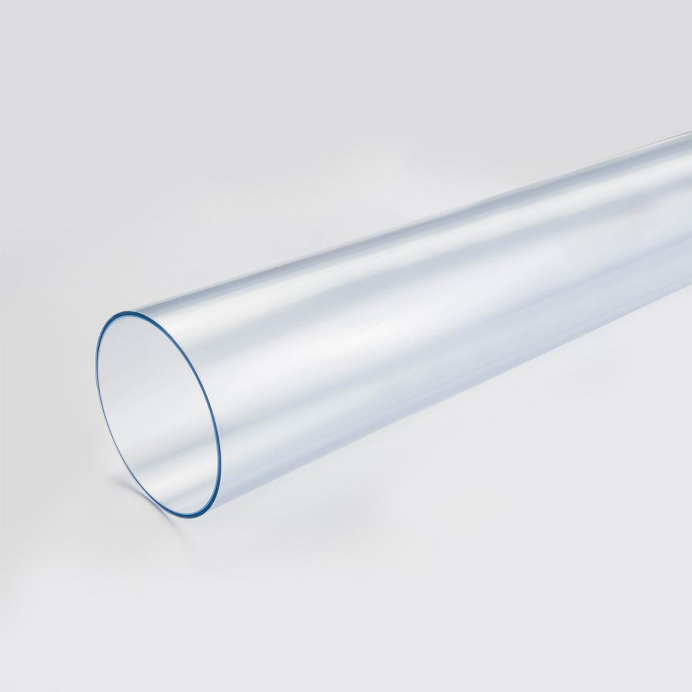 2 1//2 2.50 Clear Flexible Polycarbonate Tube Tubing 1 Ft