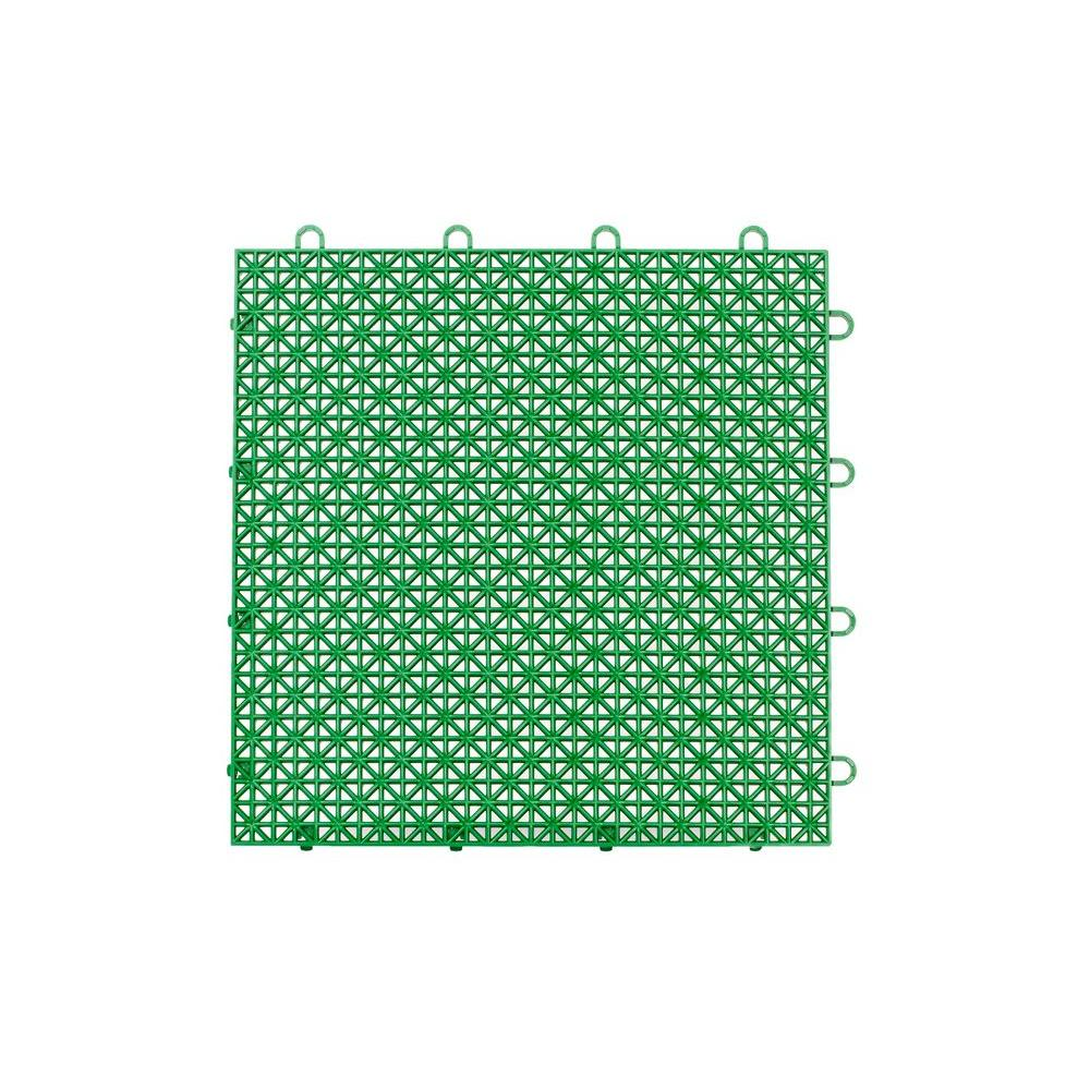 Armadillo Tile Extreme Green 12 in. x 12 in. Polypropylene Interlocking