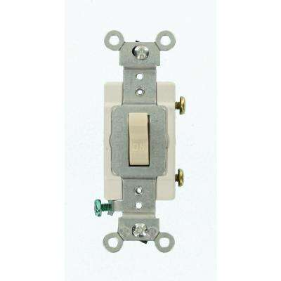 20 Amp Commercial Grade Single-Pole Toggle Switch, Light Almond