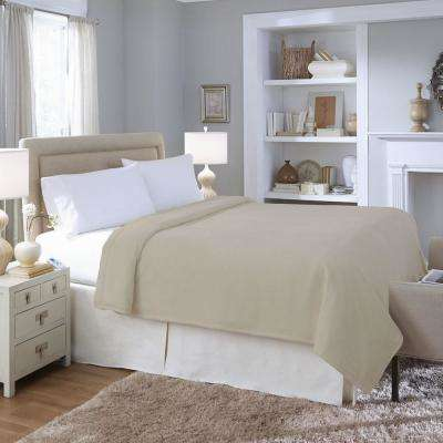 Series Micro Plush Heated Taupe Full Blanket