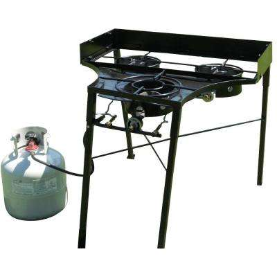 30 in. Tall 3-Burner Camp stove 2-Low Intensity Cast Burners and 1-High Intensity Cast Burner