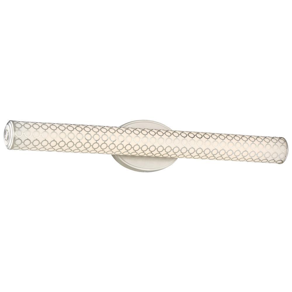 Dots 40-Watt Brushed Nickel Integrated LED Bath Light