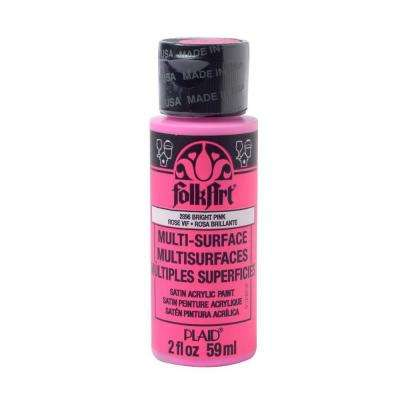 2 oz. Bright Pink Multi Surface Paint