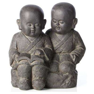 Buddha Buddies Garden Statue in Antique Dark Brown