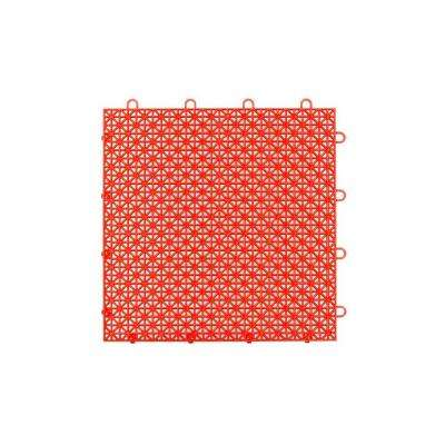 Armadillo Tile Flaming Red 12 in. x 12 in. Polypropylene Interlocking Multipurpose Floor Tile (9-Pack)