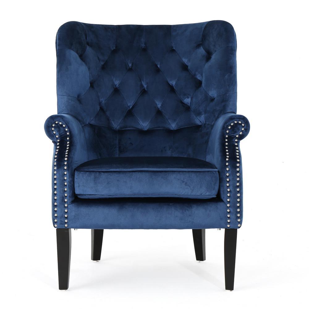 Tomlin Cobalt Velvet Club Chair