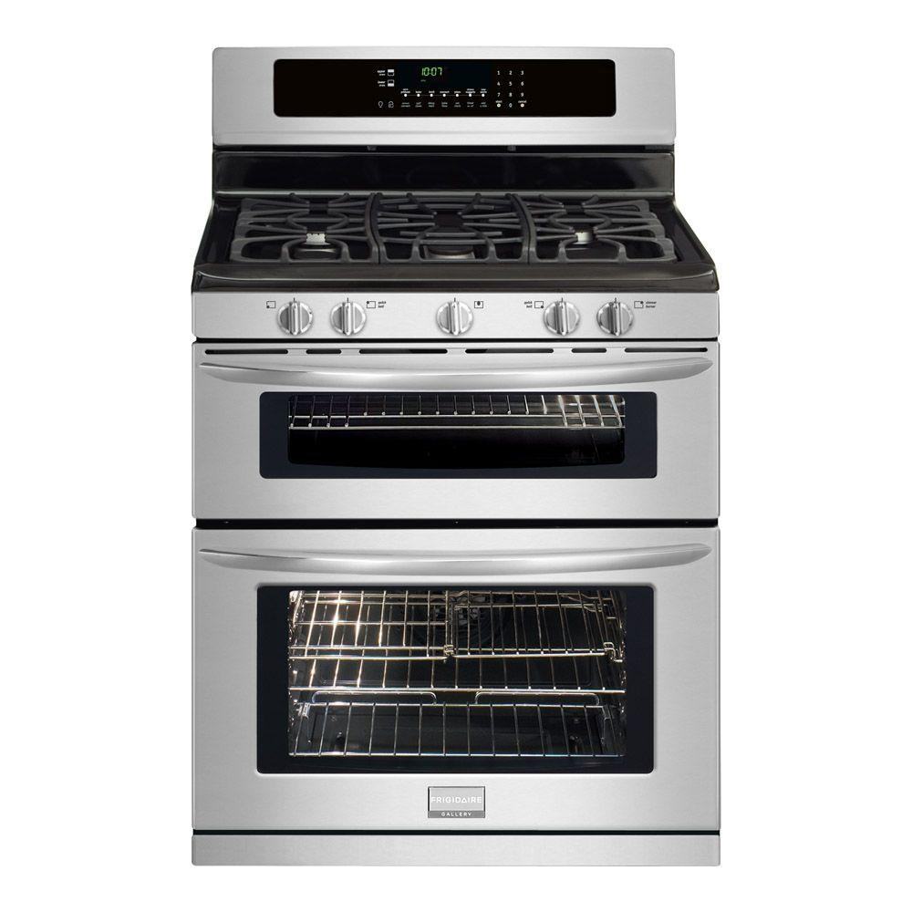 Frigidaire 5.8 cu. ft. Double Oven Gas Range with Self-Cleaning Convection Oven in Stainless Steel