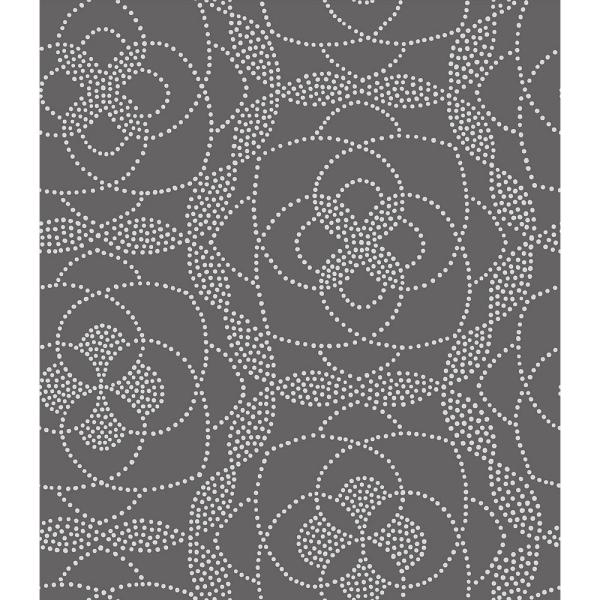 A-Street Cosmos Charcoal Dot Wallpaper 2697-22636