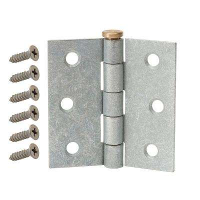 3-1/2 in. Galvanized Broad Utility Hinge
