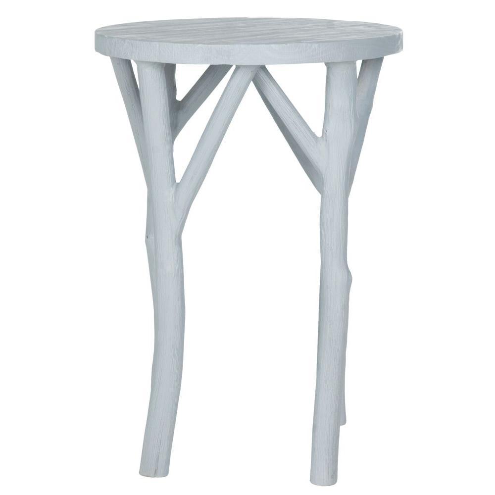 Harper Pearl Blue Grey End Table
