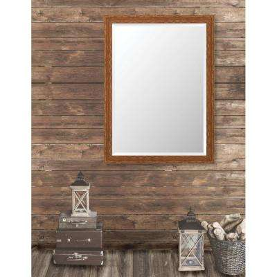 Remington 34.75 in. x 46.75 in. French Antique Wide Framed Bevel Mirror