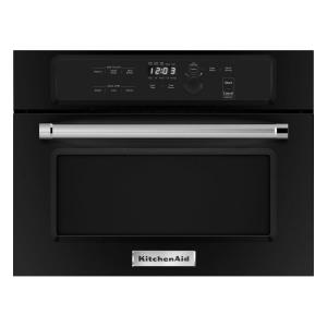 Kitchenaid 1 4 Cu Ft Built In Microwave Black Kmbs104ebl The Home Depot