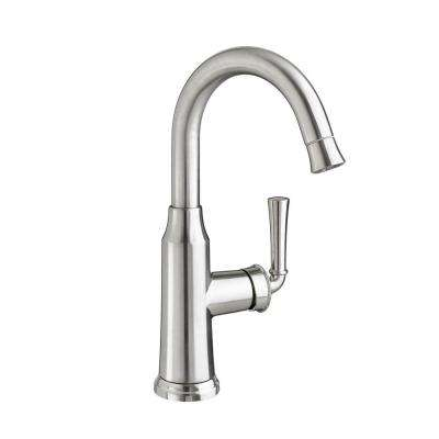 Portsmouth Single-Handle Pull-Down Bar Faucet in Stainless Steel