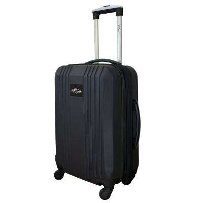 NFL Baltimore Ravens Black 21 in. Hardcase 2-Tone Luggage Carry-On Spinner Suitcase