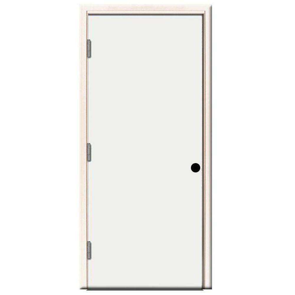 Steves Sons 36 In X 80 In Premium Flush Primed White Right Hand Outswing Steel Prehung Front