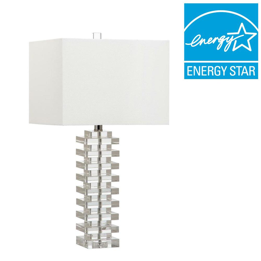 Safavieh swift 265 in clear table lamp lit4286a the home depot clear table lamp aloadofball Image collections