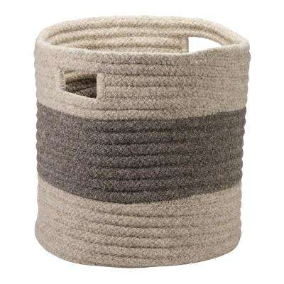 14 in. x 14 in. x 14 in. Grey Tommy Basket