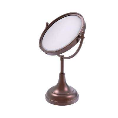 8 in. Vanity Top Single Make-Up Mirror 4X Magnification in Antique Copper