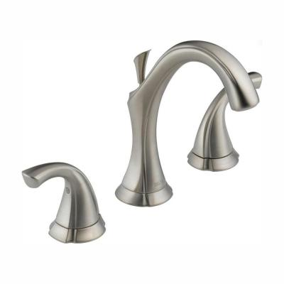 Addison 8 in. Widespread 2-Handle Bathroom Faucet with Metal Drain Assembly in Stainless