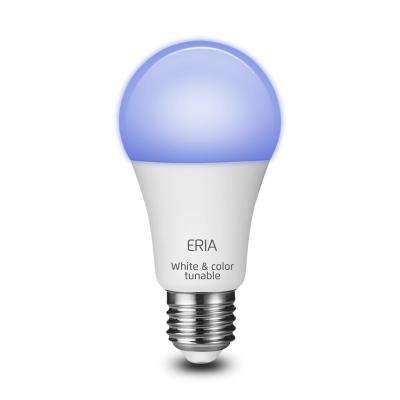 ERIA 60-Watt Equivalent A19 Dimmable CRI 90+ Wireless Smart LED Light Bulb Multi-Color