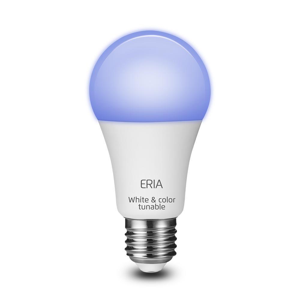 ERIA 60-Watt Equivalent A19 Dimmable CRI 90+ Wireless Smart LED Light Bulb Multi-Color