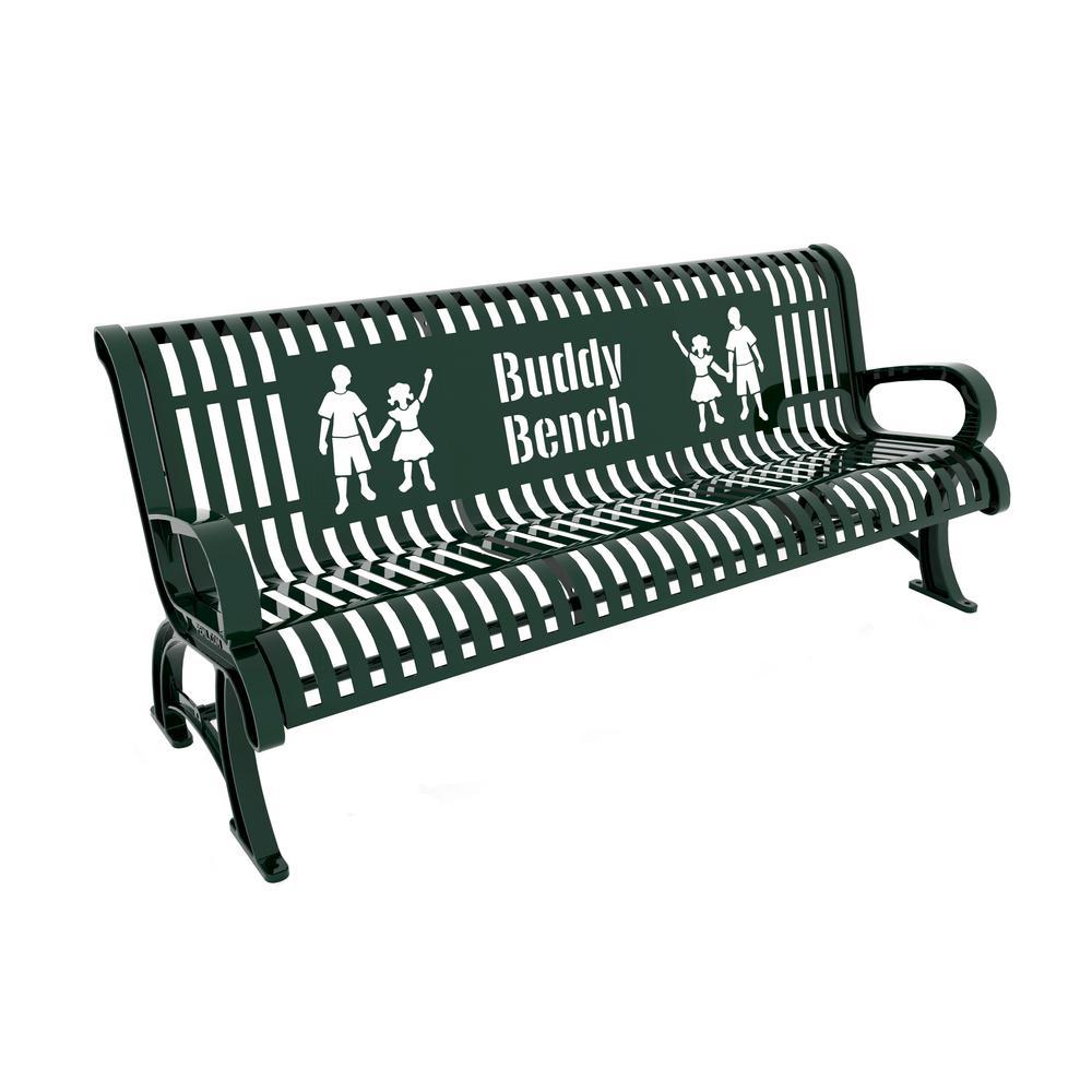 6 ft. Green Premium Buddy Bench