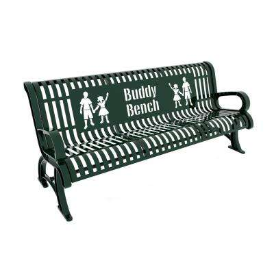 6 ft. Green Premium Buddy Bench