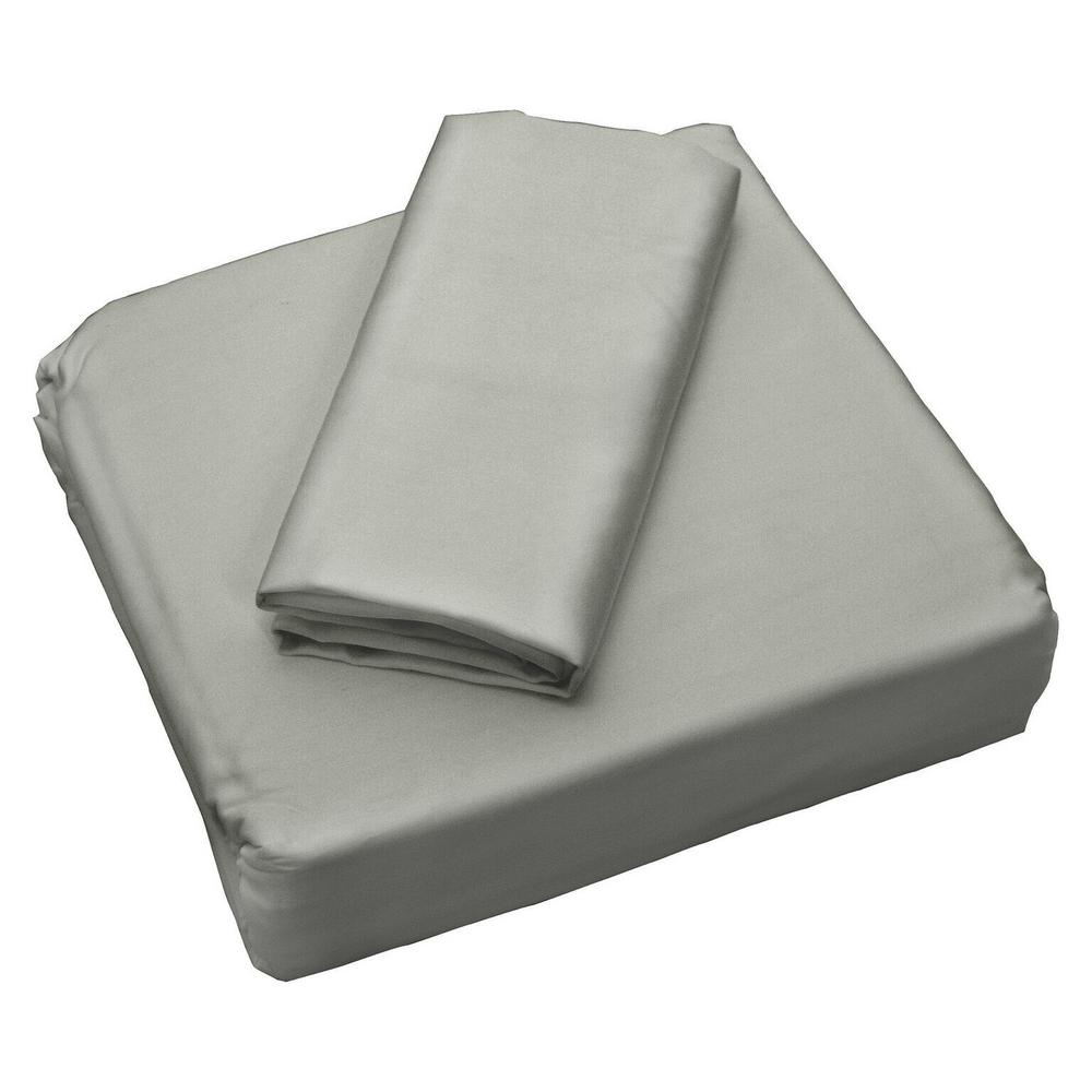 Sealy Coolmax Silver 300 Thread Count Queen Sheet Set 31350atc The Home Depot