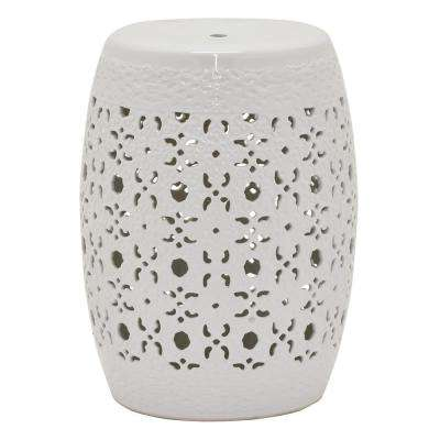 "Three Hands 18.5 "" Garden Stool - White"
