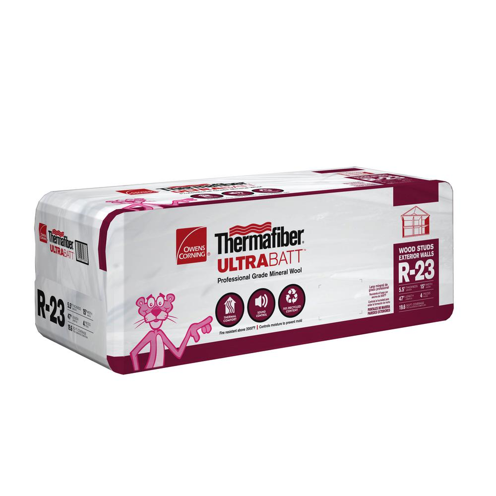 R-23 Thermafiber UltraBatt Mineral Wool Insulation Batt 15 in. x 47