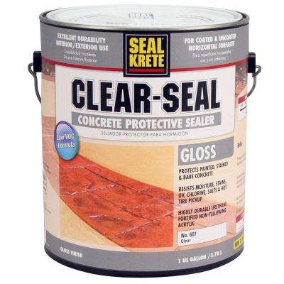 Clear-Seal 1 gal. Gloss Clear Low VOC Water-Based Interior/Exterior Concrete Protective Sealer