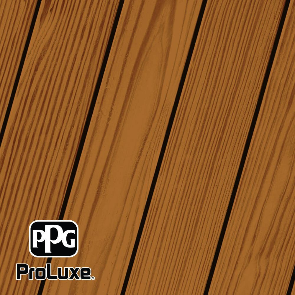 PPG ProLuxe 1 gal. Teak RE SRD Exterior Transparent Matte Wood Finish