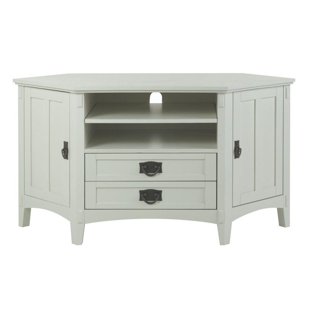 Artisan White Storage Entertainment Center