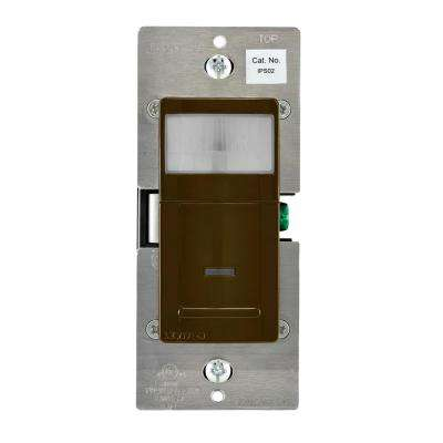 Decora Motion Sensor In-Wall Switch, Auto-On, 2.5 A, Single Pole, Brown