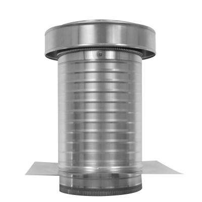 9 in. Dia. Aluminum Keepa Ducted Vent with Tail Pipe in Mill Finish