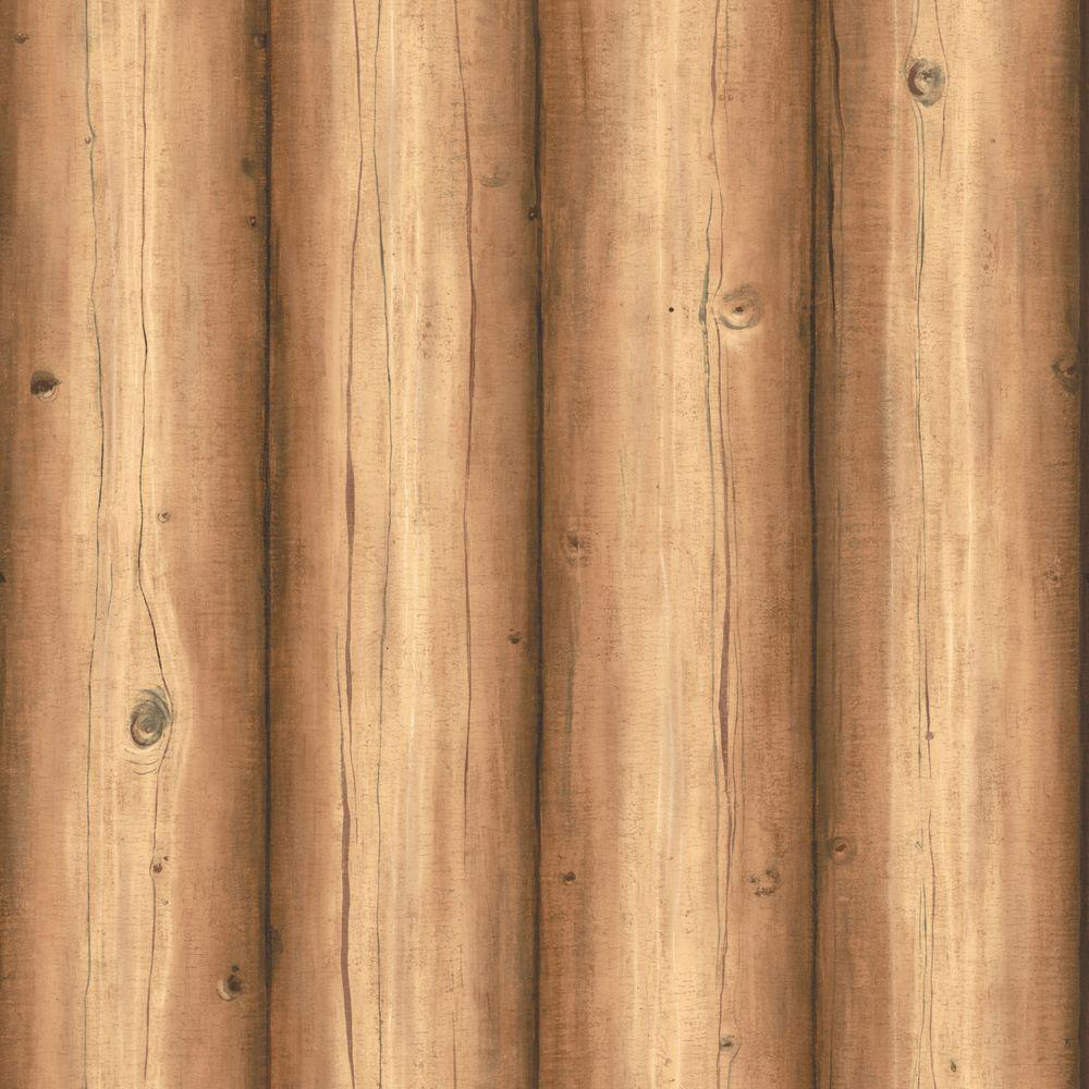 The Wallpaper Company 56 sq. ft. Brown Wood Panels Wallpaper