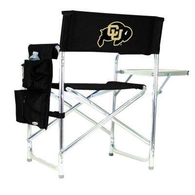 University of Colorado Black Sports Chair with Digital Logo